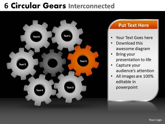 PowerPoint Slides Growth Circular Gears Ppt Layout