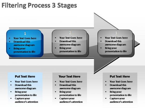PowerPoint Slides Growth Filtering Ppt Process