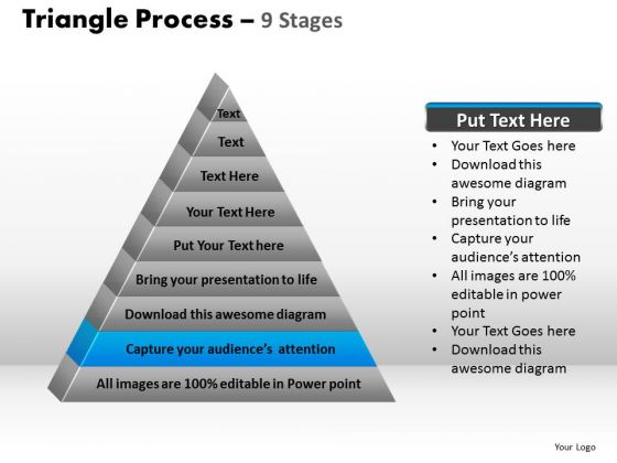 PowerPoint Slides Growth Triangle Process Ppt Template
