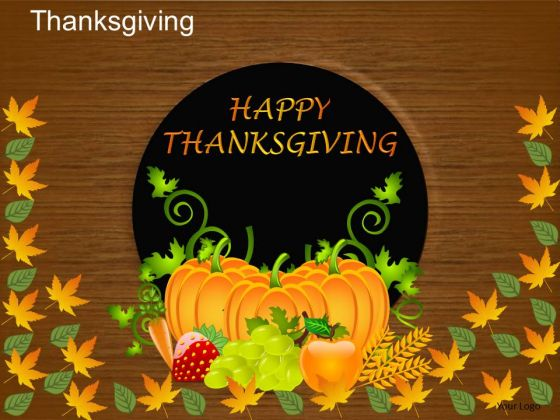 PowerPoint Slides Happy Thanksgiving Ppt Templates