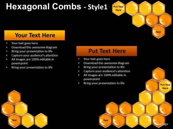 PowerPoint Slides Hexagonal Combs Editable Templates Download