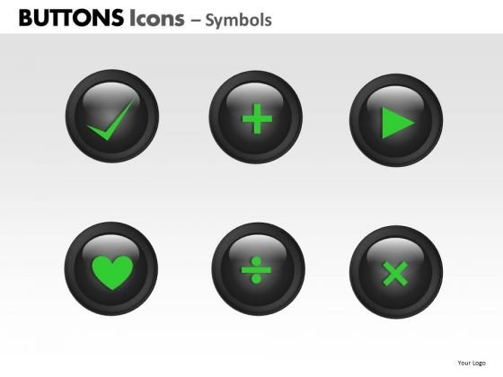 PowerPoint Slides Image Buttons Icons Ppt Presentation