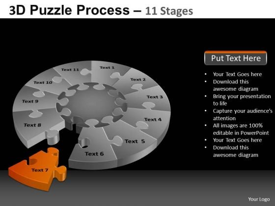 PowerPoint Slides Image Pie Chart Puzzle Process Ppt Layouts