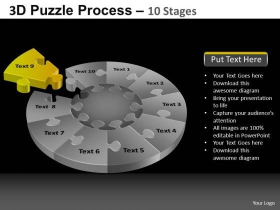 PowerPoint Slides Image Pie Chart Puzzle Process Ppt Slidelayout