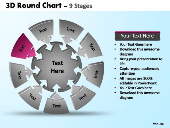PowerPoint Slides Image Pie Chart With Arrows Ppt Backgrounds