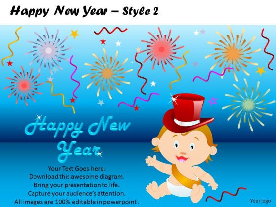 PowerPoint Slides Kidss Happy New Year Ppt Slides