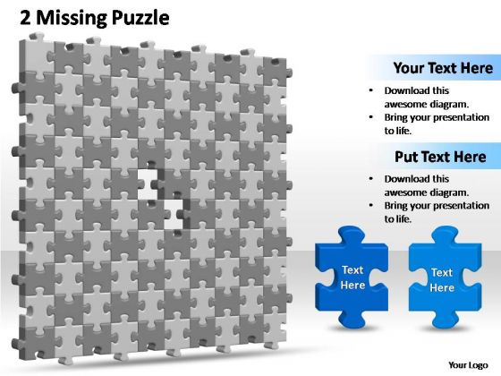 PowerPoint Slides Leadership 10x10 Missing Puzzle Piece Template Ppt Presentation