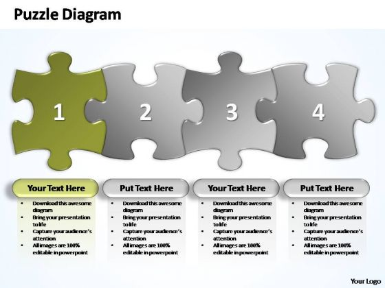 PowerPoint Slides Leadership Business Stages Puzzle Ppt Template