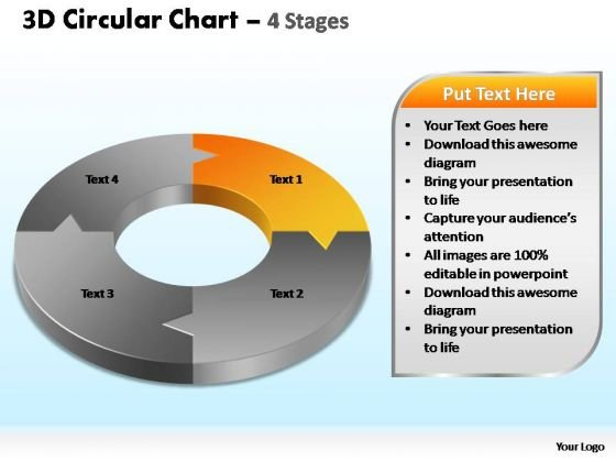 PowerPoint Slides Leadership Circular Chart Ppt Slides