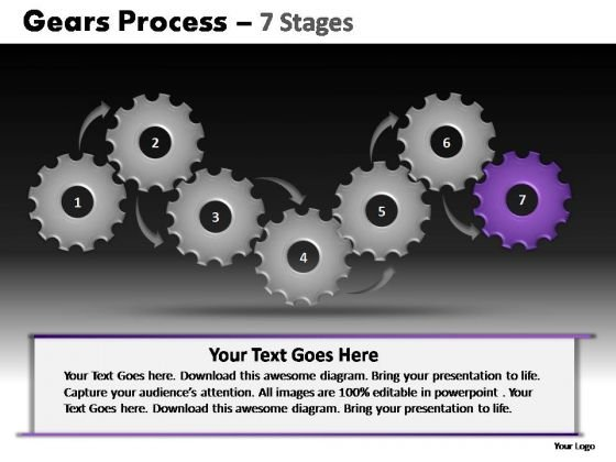 PowerPoint Slides Leadership Gears Process Ppt Presentation