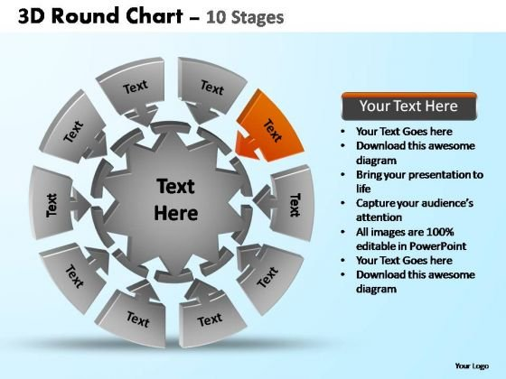 PowerPoint Slides Leadership Pie Chart With Arrows Ppt Slide Designs