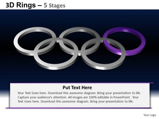 PowerPoint Slides Leadership Rings Ppt Template