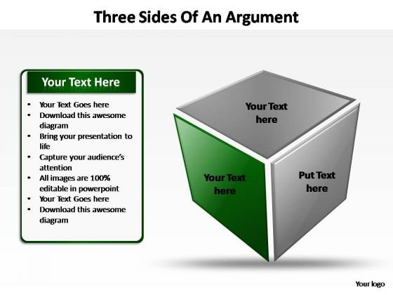 PowerPoint Slides Leadership Three Sides Of An Argument Ppt Template