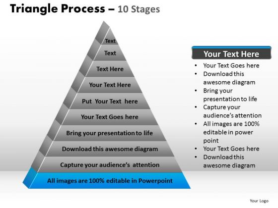 PowerPoint Slides Leadership Triangle Process Ppt Backgrounds