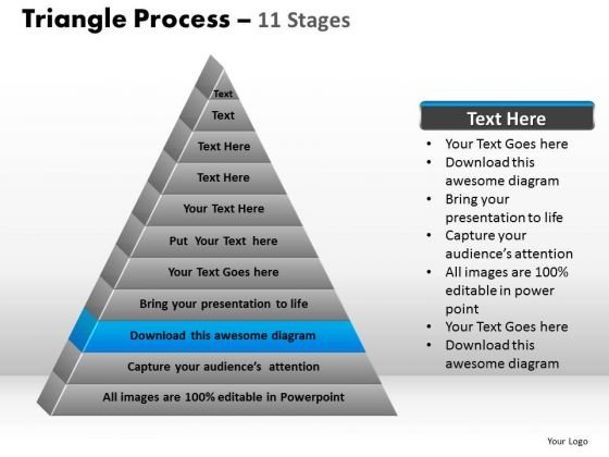 PowerPoint Slides Leadership Triangle Process Ppt Template