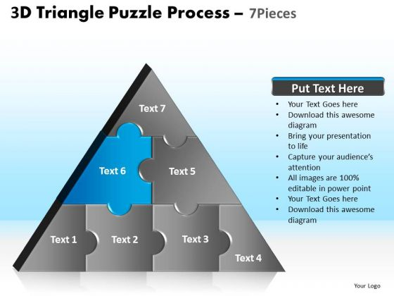 PowerPoint Slides Leadership Triangle Puzzle Ppt Themes