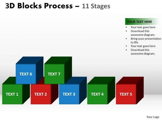 PowerPoint Slides Marketing Building Blocks Ppt Template