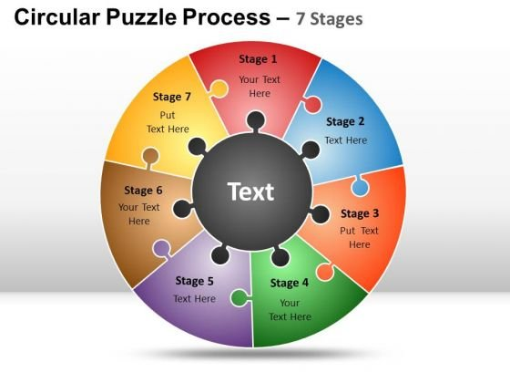 PowerPoint Slides Marketing Circular Puzzle Ppt Layouts