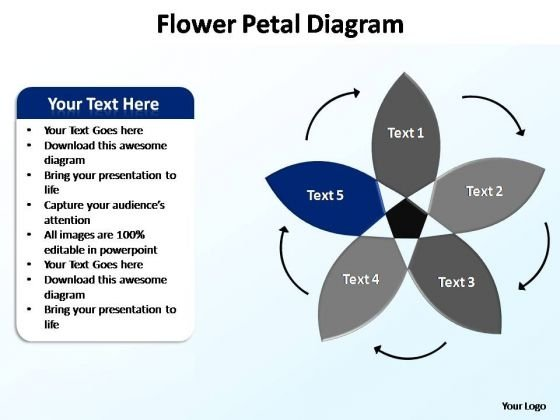 PowerPoint Slides Marketing Flower Petal Ppt Designs