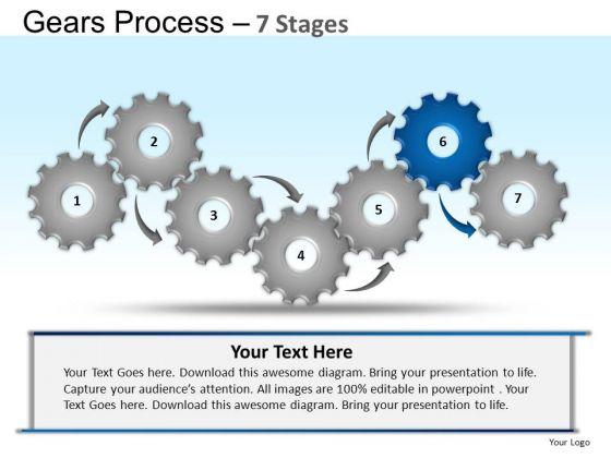 PowerPoint Slides Marketing Gears Process Ppt Design Slides