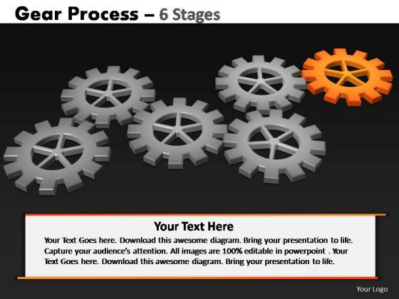 PowerPoint Slides Marketing Gears Process Ppt Themes