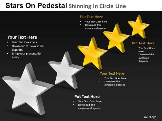 PowerPoint Slides Marketing Pedestal Shinning Ppt Slides