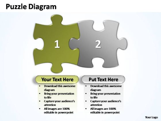 PowerPoint Slides Marketing Puzzle Piece Ppt Themes