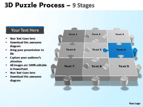 PowerPoint Slides Marketing Puzzle Process Ppt Presentation