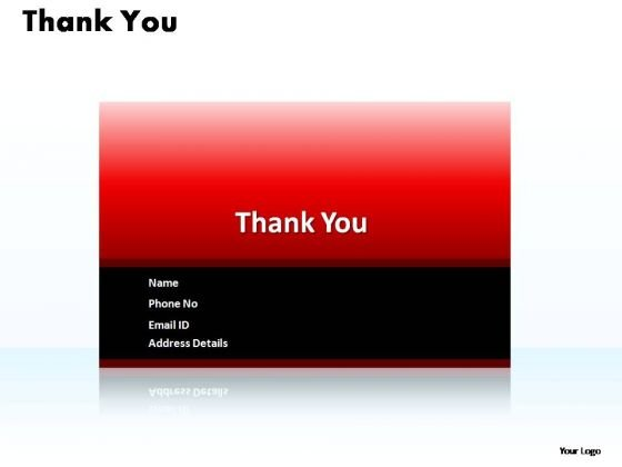 PowerPoint Slides Marketing Thank You Contact Detail Ppt Backgrounds