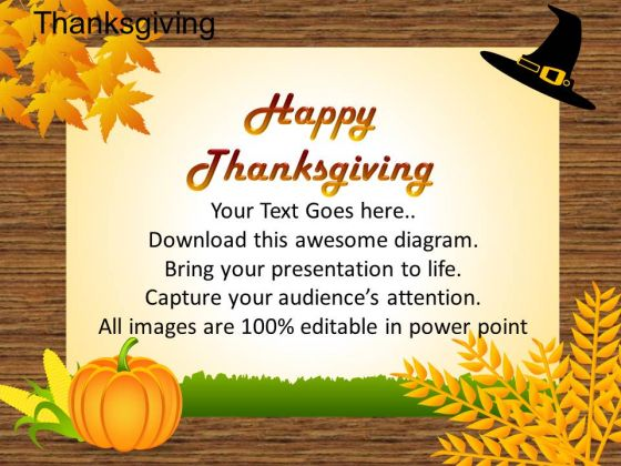 PowerPoint Slides Marketing Thanksgiving Ppt Slides