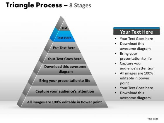 PowerPoint Slides Marketing Triangle Process Ppt Backgrounds