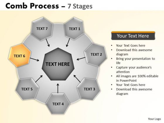 PowerPoint Slides Marketing Wheel And Spoke Process Ppt Themes