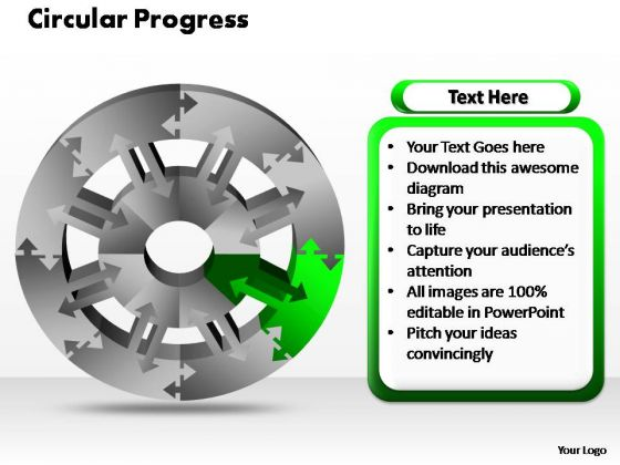 PowerPoint Slides Process Circular Ppt Themes