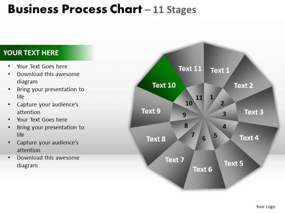 PowerPoint Slides Process Circular Quadrant Ppt Slide