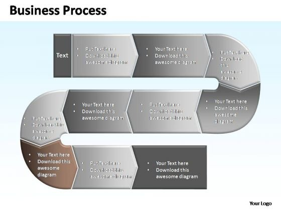 PowerPoint Slides Process Complex Business Process Ppt Templates
