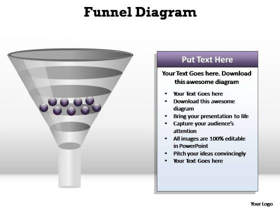 PowerPoint Slides Process Funnel Diagram Ppt Slide Designs