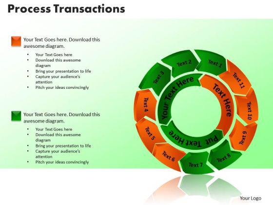 PowerPoint Slides Process Transaction Leadership Ppt Design Slides