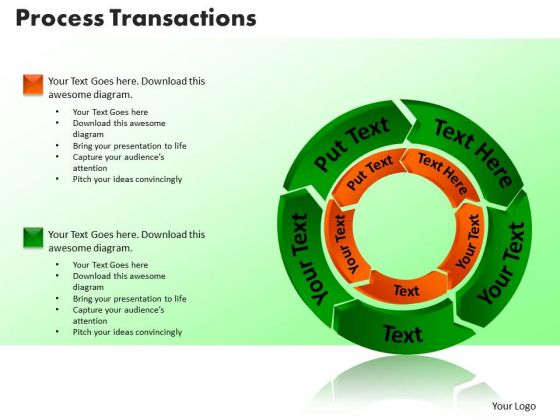 PowerPoint Slides Process Transaction Marketing Ppt Themes