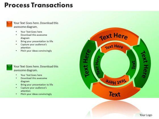 PowerPoint Slides Process Transaction Sales Ppt Presentation Designs