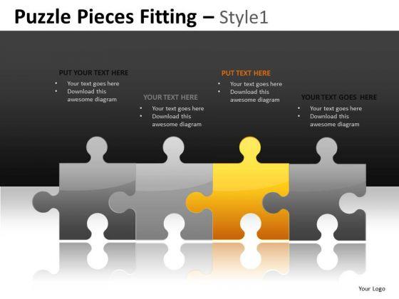 PowerPoint Slides Puzzle Line Editable Ppt