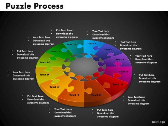 PowerPoint Slides Puzzle Process Business Ppt Presentation Designs