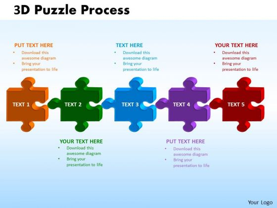 PowerPoint Slides Puzzle Process Success Ppt Template