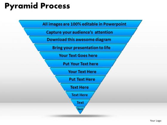 PowerPoint Slides Pyramid Process Chart Ppt Theme