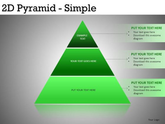 PowerPoint Slides Pyramids 3 Layers