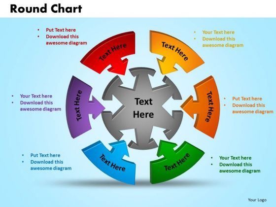 PowerPoint Slides Round Chart Marketing Ppt Theme