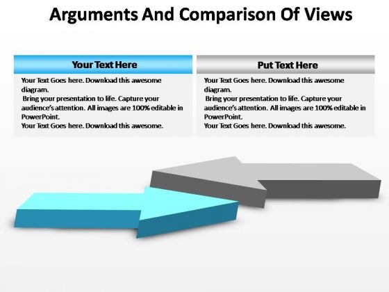 PowerPoint Slides Sales Arguments And Comparison Ppt Themes