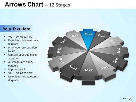 PowerPoint Slides Sales Arrows Chart Ppt Theme