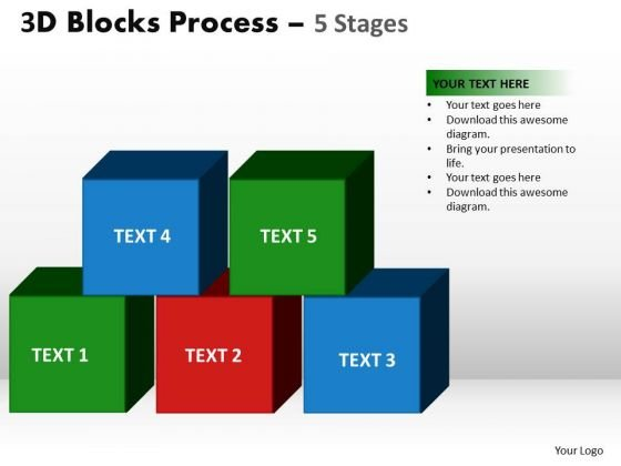 PowerPoint Slides Sales Building Blocks Ppt Slide