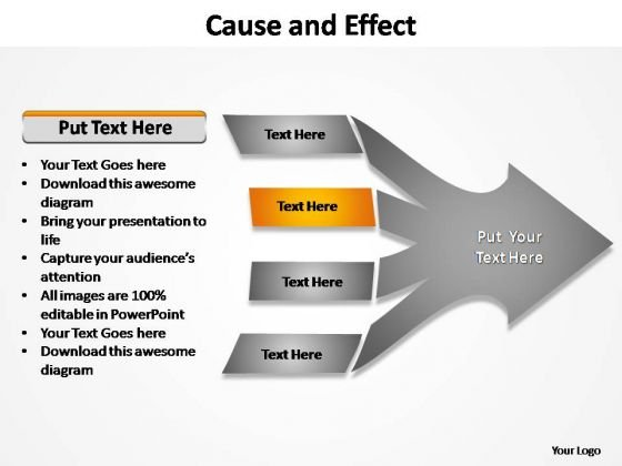 PowerPoint Slides Sales Cause And Effect Ppt Backgrounds
