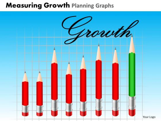 PowerPoint Slides Sales Measuring Growth Ppt Presentation